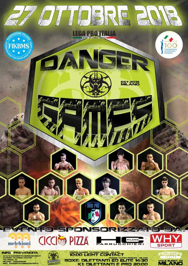 Locandina Danger Games 2018